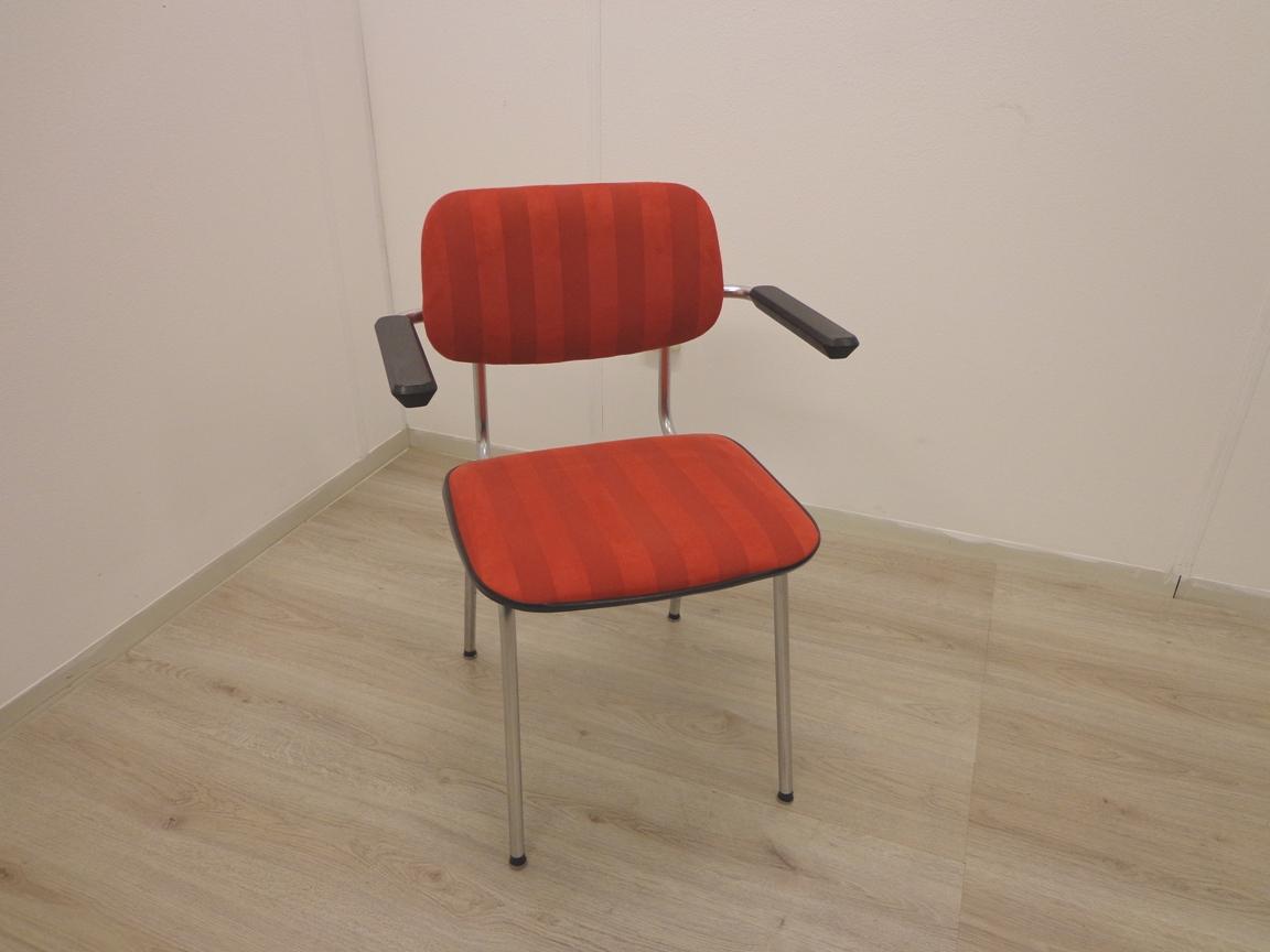 Stoel gispen rood gestoffeerd bureaustoel nu
