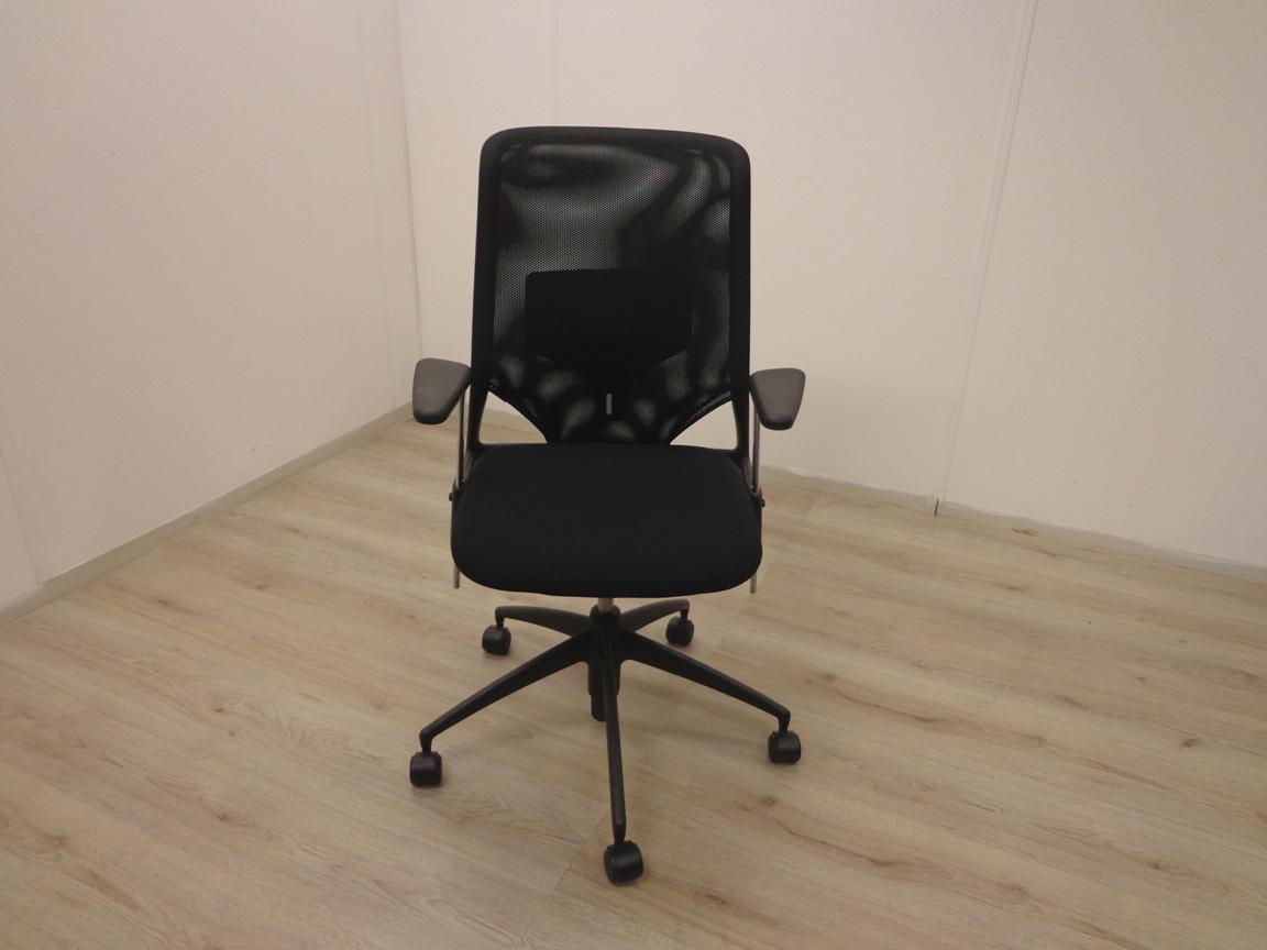 Vitra Meda Bureaustoel.Bureaustoel Vitra Meda Zwart Gestoffeerd Bureaustoel Nu