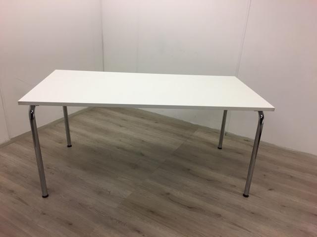 Fonkelnieuw Tafel wit 160x80 cm met weg klapbare poten - Bureaustoel.nu WQ-63